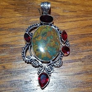Autumn Jasper pendant